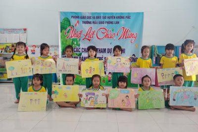 Hội thi vẽ tranh dành cho trẻ 5 tuổi cấp trường năm học 2020-2021 chào mừng ngày 20/11